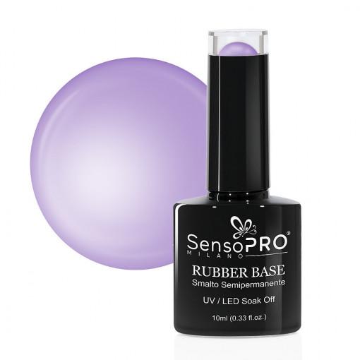 Poze Rubber Base Gel SensoPRO Milano 10ml, Rare Lilac 37