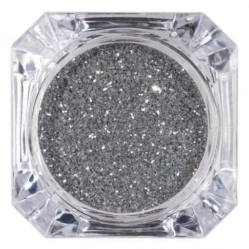 Poze Sclipici Glitter Unghii Pulbere Argintiu #44, LUXORISE
