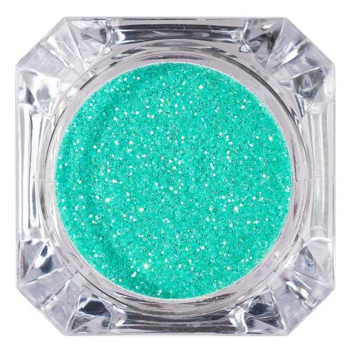 Poze Sclipici Glitter Unghii Pulbere Dream Green #10, LUXORISE