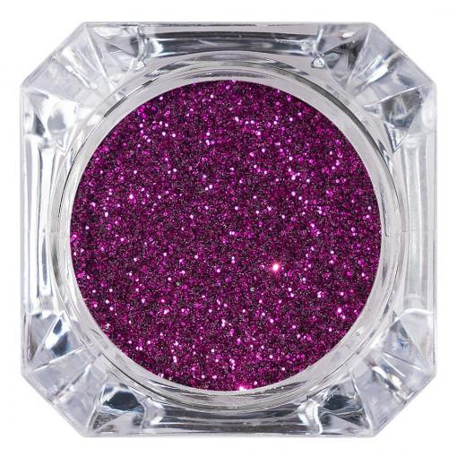 Poze Sclipici Glitter Unghii Pulbere Mov #22, LUXORISE