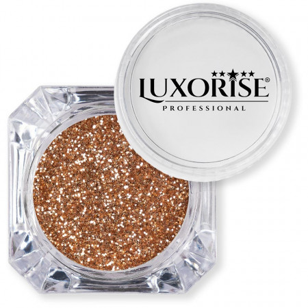 Poze Sclipici Glitter Unghii Pulbere Red Gold #41, LUXORISE