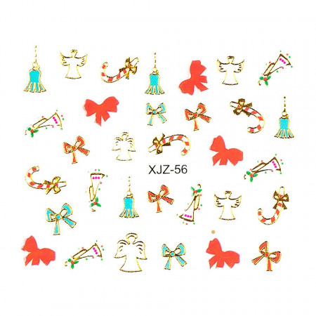 Poze Sticker 3D Unghii Adventure XJZ-56 Christmas Collection, LUXORISE