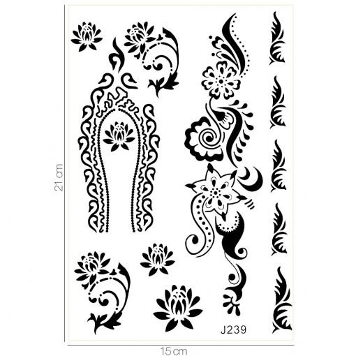 Poze Tatuaj Temporar LUXORISE Flower Crown J239