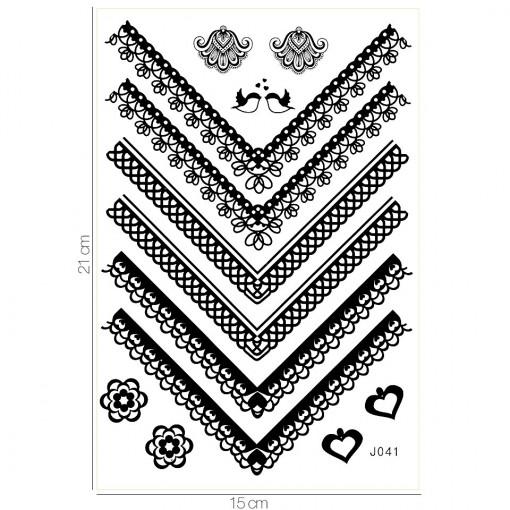 Poze Tatuaj Temporar LUXORISE Love Birds J041