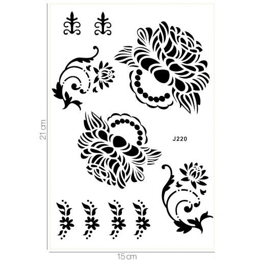 Poze Tatuaj Temporar LUXORISE Rose Story J220