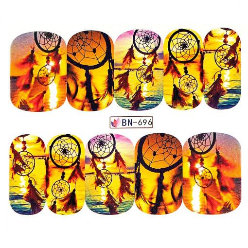 Poze Tatuaj unghii Dream Catcher BN-696, LUXORISE