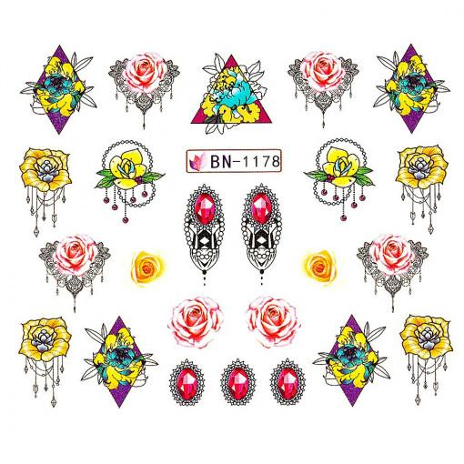 Poze Tatuaj unghii Fantasy BN-1178, LUXORISE