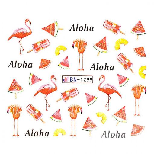 Poze Tatuaj unghii Flamingo BN-1299, LUXORISE