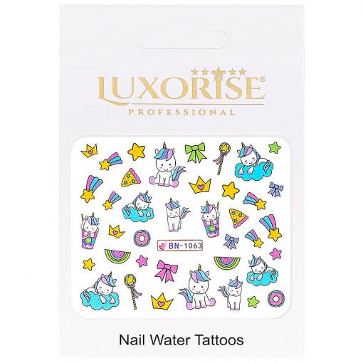 Poze Tatuaj Unghii Unicorn BN-1063, LUXORISE