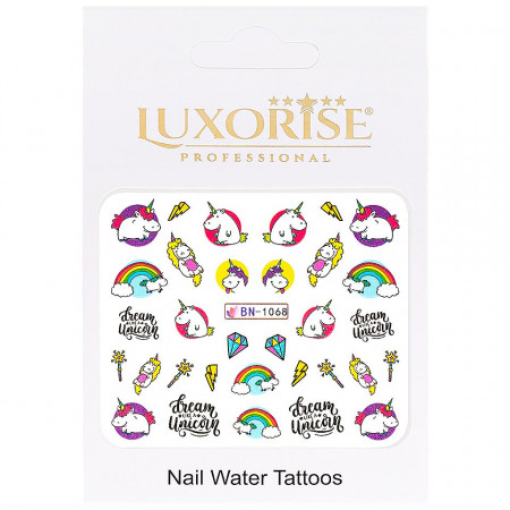 Poze Tatuaj Unghii Unicorn BN-1068, LUXORISE