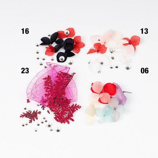 Poze Flori Uscate Unghii cu cristale - Floral Fairytale #23 LUXORISE