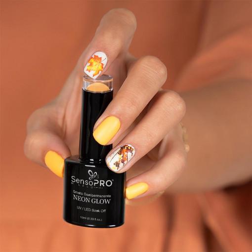 Poze Oja Semipermanenta Neon Glow SensoPRO Delicious Orange #02, 10ml