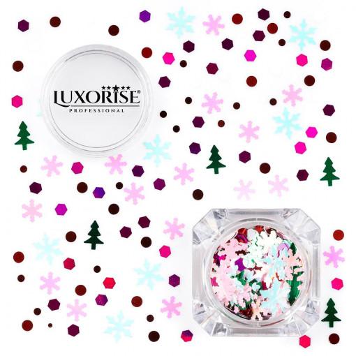 Poze Paiete Unghii LUXORISE #04 Christmas Joy