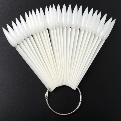Poze Paletar pentru Unghii Stiletto Exersare si Expunere - 40 Palete Unghii False , alb