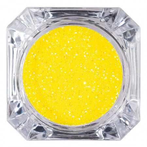 Poze Sclipici Glitter Unghii Pulbere Galben #15, LUXORISE
