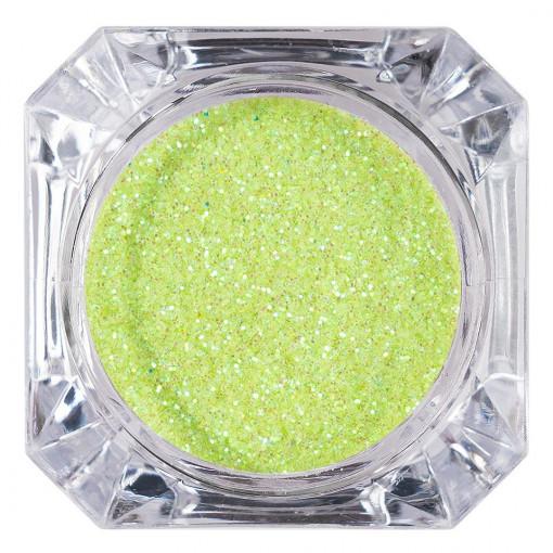 Poze Sclipici Glitter Unghii Pulbere Lime #16, LUXORISE