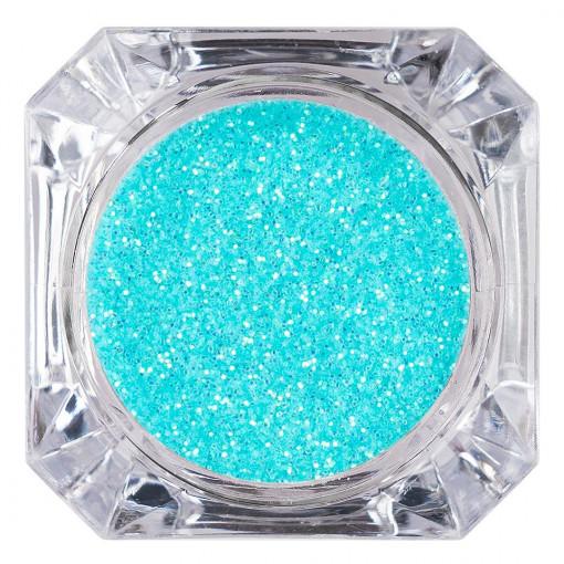 Poze Sclipici Glitter Unghii Pulbere Ocean Blue #37, LUXORISE