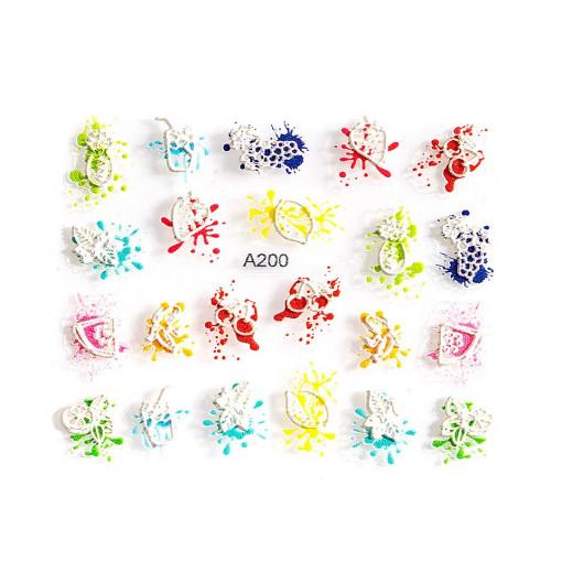 Poze Sticker 3D Unghii Adventure A200, LUXORISE