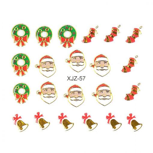 Poze Sticker 3D Unghii Adventure XJZ-57 Christmas Collection, LUXORISE