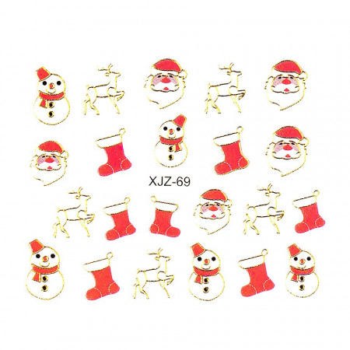 Poze Sticker 3D Unghii Adventure XJZ-69 Christmas Collection, LUXORISE