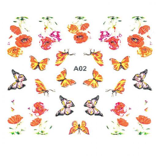 Poze Sticker 3D Unghii Artistry A02, LUXORISE