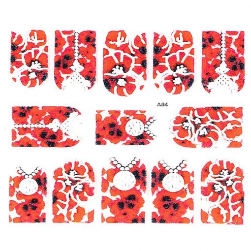 Poze Sticker 3D Unghii Artistry A04, LUXORISE