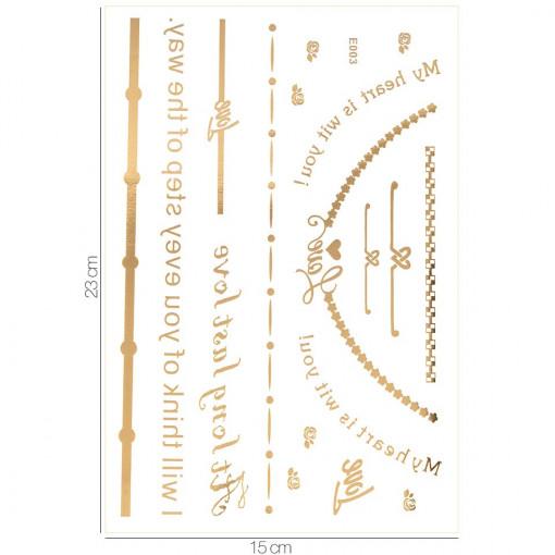 Poze Tatuaj Temporar LUXORISE Gold Edition E003