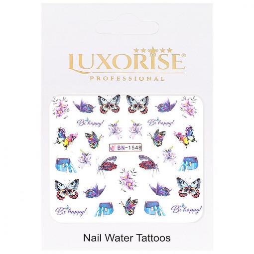 Poze Tatuaj Unghii Butterfly BN-1548, LUXORISE