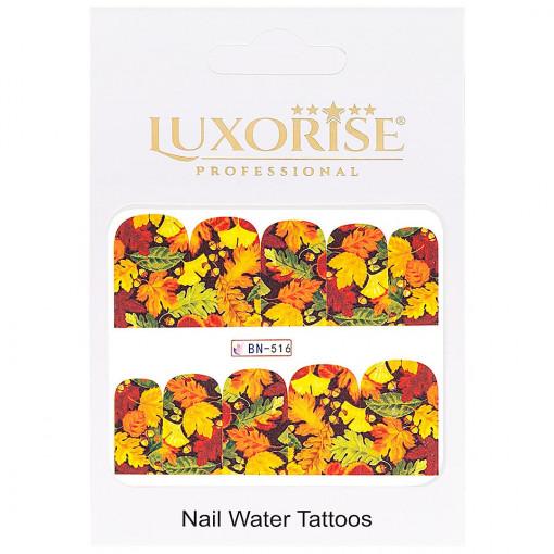 Poze Tatuaj unghii GoldenFall BN-516, LUXORISE