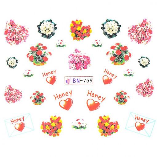 Poze Tatuaj Unghii Love BN-759, LUXORISE