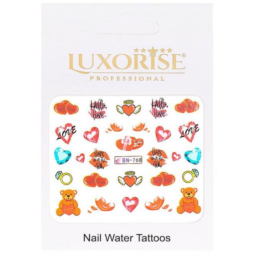Poze Tatuaj Unghii Love BN-768, LUXORISE