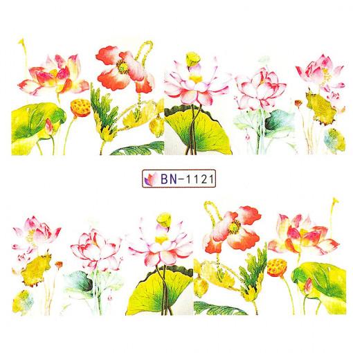Poze Tatuaj Unghii Nature BN-1121, LUXORISE