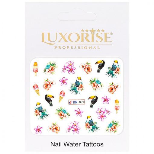 Poze Tatuaj unghii Tropical BN-870, LUXORISE
