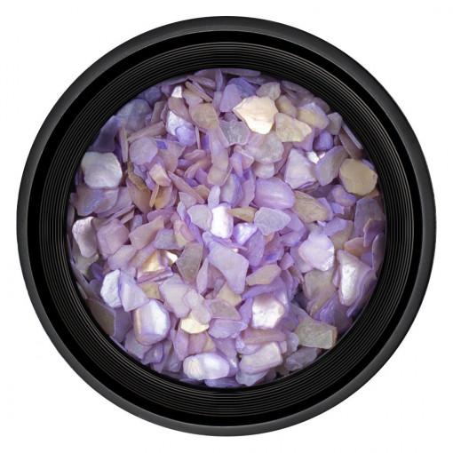 Poze Decor Unghii tip Scoica Pisata Purple, LUXORISE