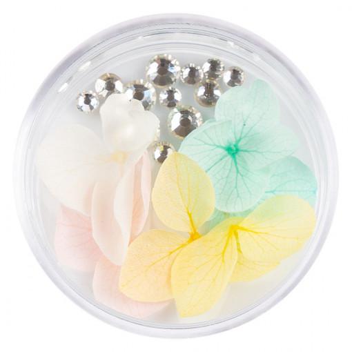 Poze Flori Uscate Unghii cu cristale - Floral Fairytale #24 LUXORISE
