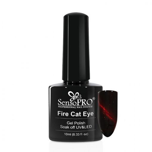 Poze Oja Semipermanenta SensoPRO Fire Cat Eye #09, 10 ml