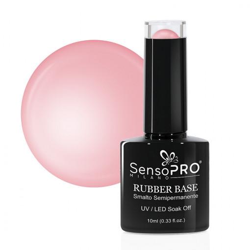 Poze Rubber Base Gel SensoPRO Milano 10ml, Fairy Tale Pink 28