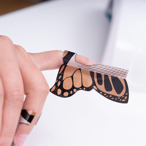 Poze Sabloane Constructie Unghii Gel LUXORISE, Butterfly, 500 buc