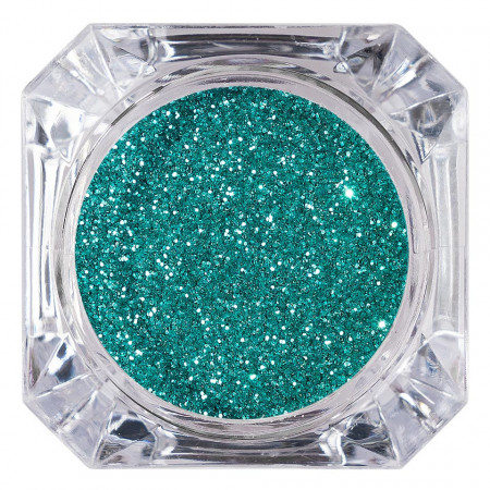 Poze Sclipici Glitter Unghii Pulbere Turquoise Green #11, LUXORISE