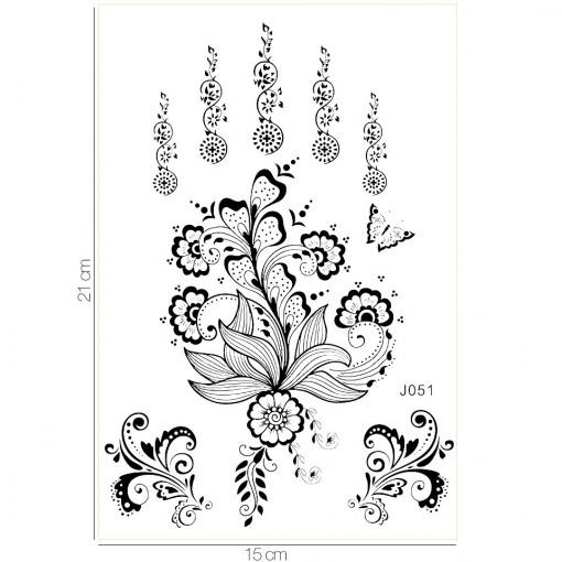 Poze Tatuaj Temporar LUXORISE Flying Flowers J051