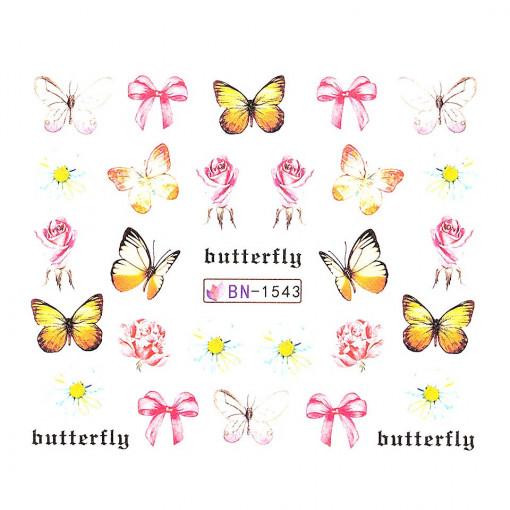 Poze Tatuaj Unghii Butterfly BN-1543, LUXORISE