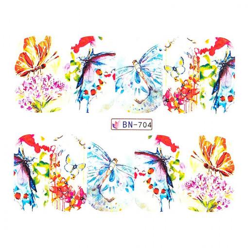 Poze Tatuaj Unghii Butterfly BN-704, LUXORISE
