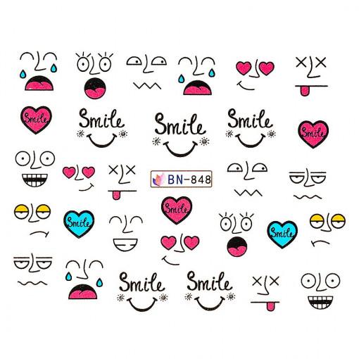 Poze Tatuaj unghii Emotions BN-848, LUXORISE