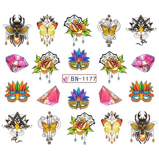 Poze Tatuaj unghii Fantasy BN-1177, LUXORISE