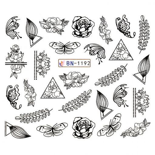 Poze Tatuaj unghii Fantasy BN-1192, LUXORISE
