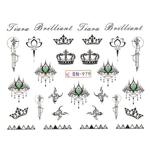 Poze Tatuaj unghii Fantasy BN-979, LUXORISE