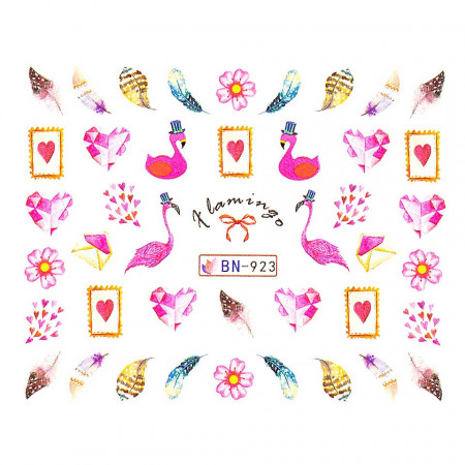 Poze Tatuaj unghii Flamingo BN-923, LUXORISE