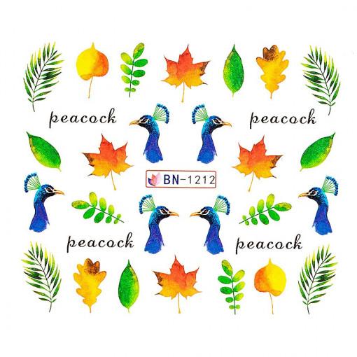 Poze Tatuaj unghii Peacock BN-1212, LUXORISE