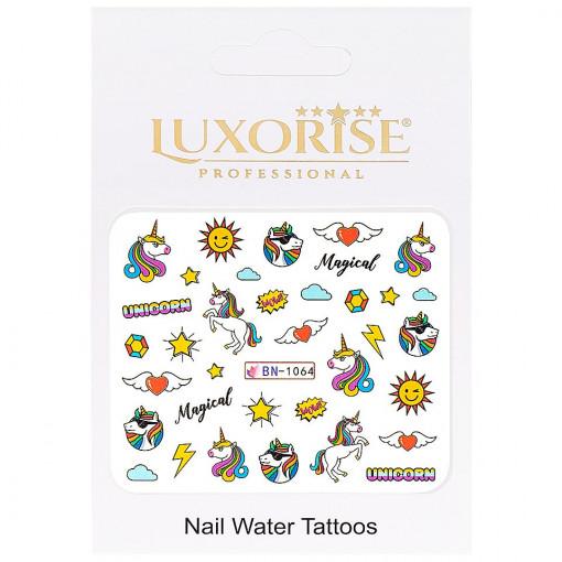 Poze Tatuaj Unghii Unicorn BN-1064, LUXORISE