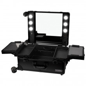 Statie Makeup Portabila Profesionala cu Lumini LUXORISE, Black Delight